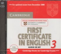 Cambridge First Certificate in English 3 for Updated Exam Audio CDs